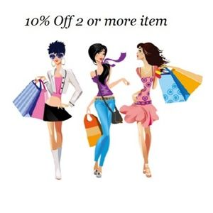 10% Off 2 Or More Items BUNDLE AND SAVE